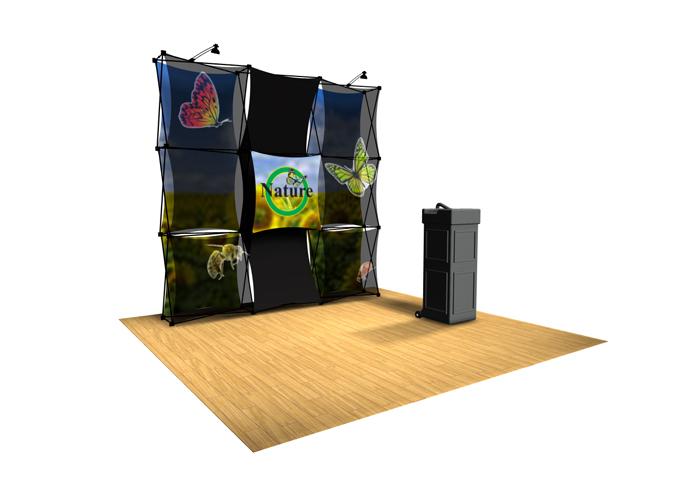 Xpressions Sheer 3x3 Pop Up Displays | Trade Show Displays