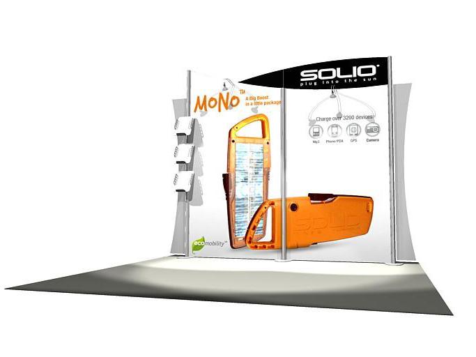 Eco Smart  Custom Modular Hybrid    Trade Show Displays by ShopForExhibits