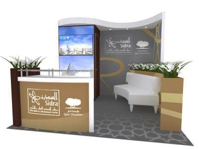 Display Rentals -Oasis 10 Ft Custom Booth