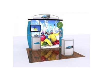 Custom Modular Hybrid Displays | Segue Inline Lightbox 10x10
