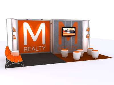 Custom Modular Hybrid Displays | Trade Show Island - 10 x 20 Version