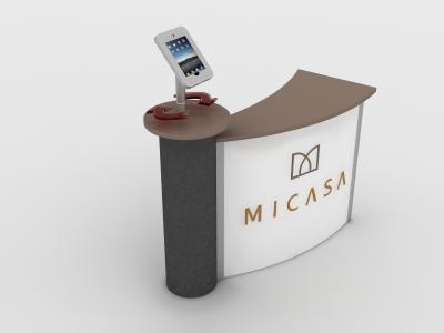 MOD-1329 Rotating iPad Mount | Counters, Pedestals, Kiosks, & Workstations