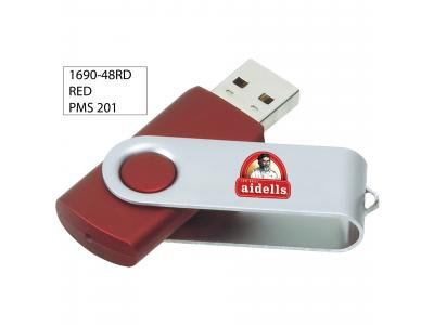 Promotional Giveaway Technology | Rotate Flash Drive 2GB Red