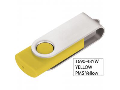 Promotional Giveaway Technology   Rotate Flash Drive 2GB Yellow