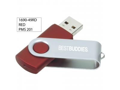 Promotional Giveaway Technology | Rotate Flash Drive 4GB Red