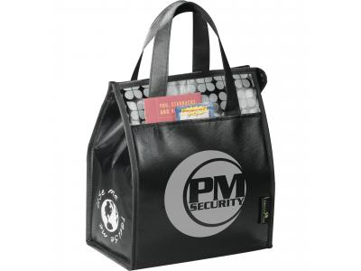Promotional Giveaway Bags | Laminated Non-Woven Lunch Bag Black