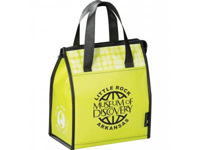 Promotional Giveaway Bags | Laminated Non-Woven Lunch Bag Lime