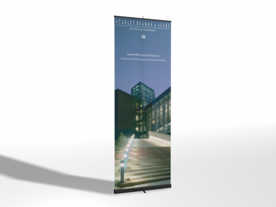 "33.5"" Pronto Banner Stand Replacement Graphic 