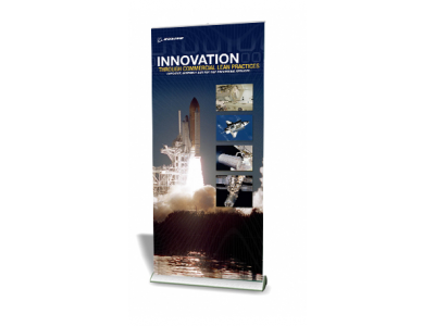 Quickscreen 3 - 39.5 in Retractable Banner Stands | Banner Stands