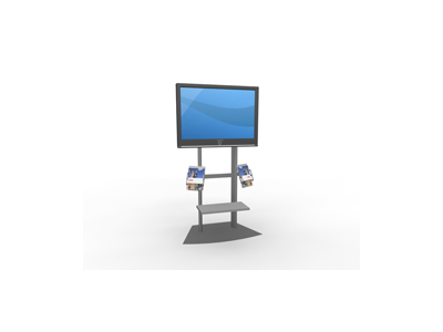 MOD-1247 Monitor Stand | Counters Pedestals Kiosks & Workstations