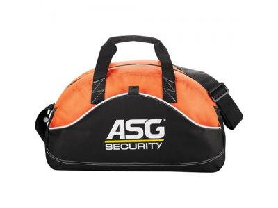"Promotional Giveaway Bags | Boomerang 18"" Sport Duffel Orange"