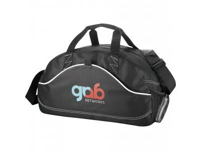 "Promotional Giveaway Bags | Boomerang 18"" Sport Duffel Black"