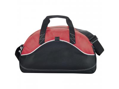 "Promotional Giveaway Bags | Boomerang 18"" Sport Duffel Red"
