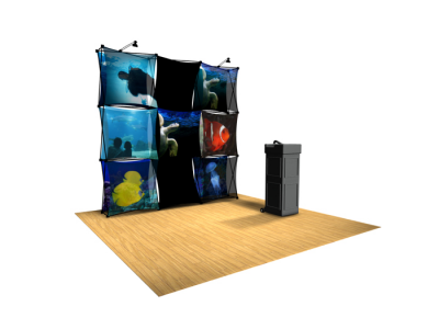 Xpressions Sheer 3x3 Pop Up Displays Kit B | Trade Show Displays