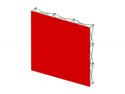 Pop Up Trade Show Display | Self Locking VBurst Replacement Graphic 3x3 Flat