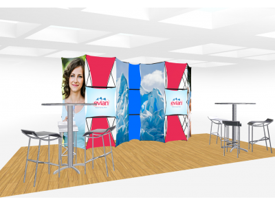 Xpressions Connex 10x20 Pop Up Displays Kit E | Trade Show Displays