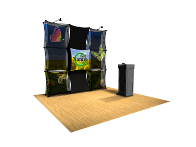 Xpressions Sheer 3x3 Pop Up Displays Kit A | Trade Show Displays