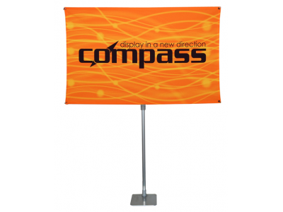 Compass Banner Stand no Table