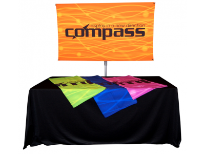 Compass Table Top Banner Stand
