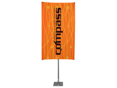 Compass Table Top Banner Stand Upright