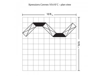 Xpressions Connex 10x10 Pop Up Displays Kit C | Trade Show Displays