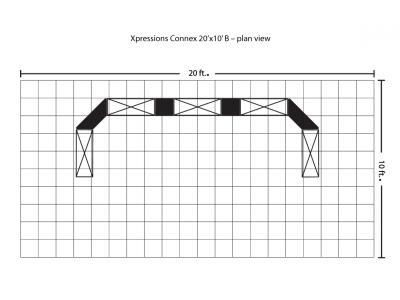 Xpressions Connex 10x20 Pop Up Displays Kit B | Trade Show Displays