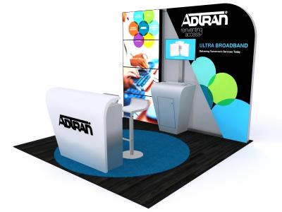 Custom Modular Hybrid Displays | DM-1047 10 Ft Visionary Designs