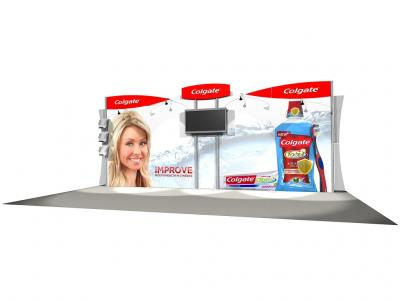 RE-2033 eSmart Colgate w/ Graphics | Display Rentals