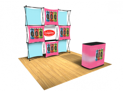 Pop Up Table Top Display | Express Kit B left