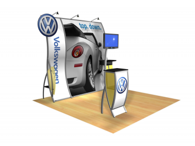 Gia - Perfect 10 Trade Show Displays | Custom Modular Hybrid Displays