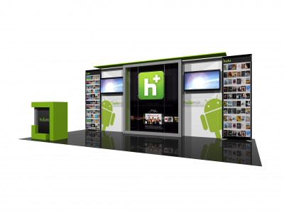 Eco-2008 | Eco Smart Hybrid Custom Modular Trade Show Display - right view