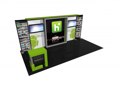 Eco-2008 | Eco Smart Hybrid Custom Modular Trade Show Display - left view