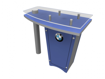 LTK-1141 Counter   Counters Kiosks Pedestals & Workstations