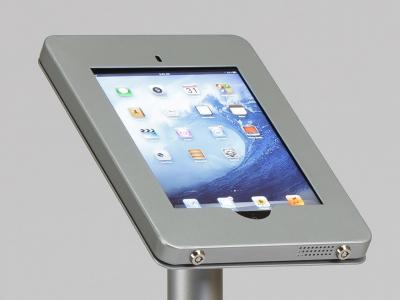 MOD-1338 iPad Kiosk clamshell face close up