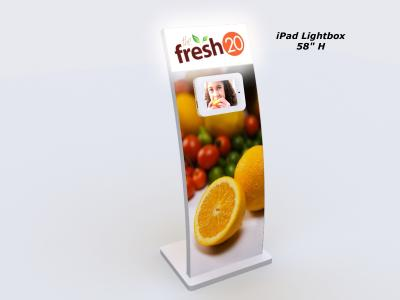 MOD-1362 iPad Lightbox | Trade Show Displays