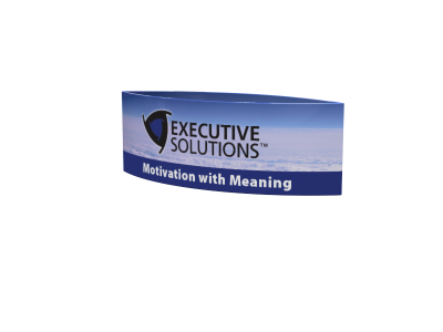 TF-1003 Tapered Round Hanging Sign | Overhead Tension Fabric Structure
