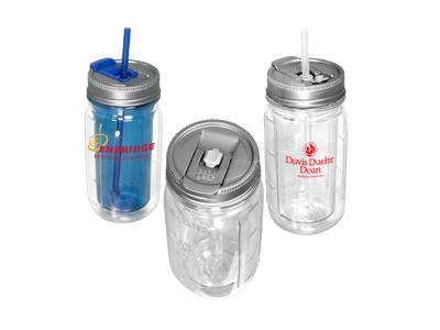 Promotional Giveaway Drinkware | Cool Gear Mason Jar Water Bottle