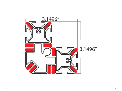 L Profile Dimensions | Tension Fabric Displays
