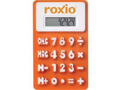 Promotional Giveaway Technology | The Flex Calculator Orange