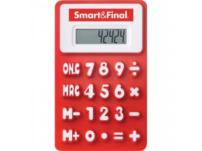 Promotional Giveaway Technology | The Flex Calculator Red