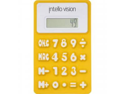 Promotional Giveaway Technology | The Flex Calculator Yellow