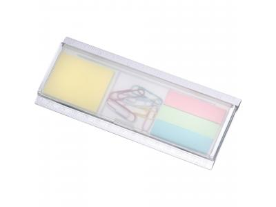 Promotional Giveaway Office | Work Rules Desk Organizer Clear/Frosted