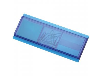 Promotional Giveaway Office | Work Rules Desk Organizer Translucent Blue