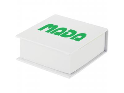 Promotional Giveaway Office | Memo Stack With Sticky Flags White