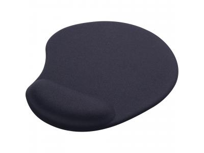 Promotional Giveaway Office | Solid Jersey Gel Mouse Pad / Wrist Rest Black