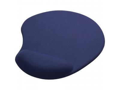 Promotional Giveaway Office | Solid Jersey Gel Mouse Pad / Wrist Rest Blue