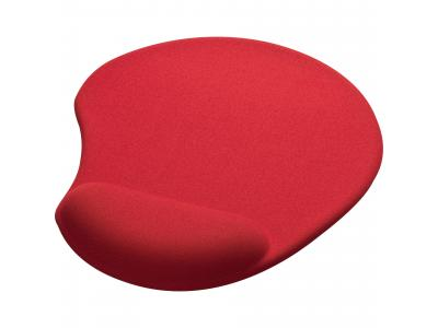 Promotional Giveaway Office | Solid Jersey Gel Mouse Pad / Wrist Rest Red