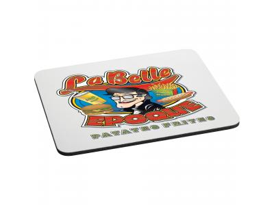 "Promotional Giveaway Office | 1/4"" Rectangular Rubber Mouse Pad White"