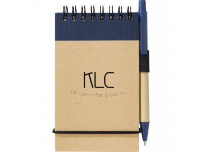 Promotional Giveaway Office   The Recycled Jotter & Pen Natural with Blue Trim