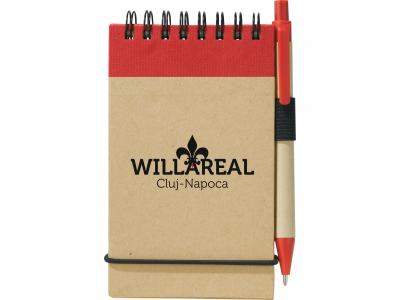 Promotional Giveaway Office | The Recycled Jotter & Pen Natural with Red Trim